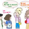 英語の中に突然日本語が混じるとおもしろいことになります
